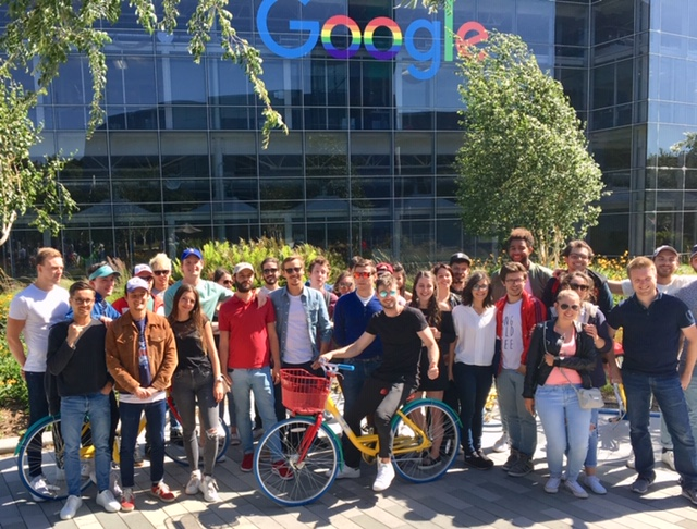 Entrepreneurial Students from France Visiting Google